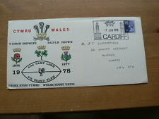 1978 Commemorative Cover, Welsh Rugby Union, Triple Crown, Cardiff postmark