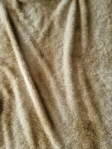 "Woolrich Home Plush Faux Fur Blanket/Throw Tan Cozy Soft Microfiber 65""x50"" ~☆~"