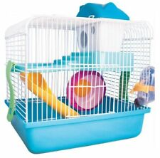 2 FLOOR PET HAMSTER GERBIL CASTLE CARRIER CAGE HOME HOUSE FUN PLAY CENTRE