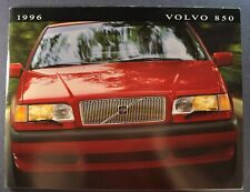1996 Volvo 850 Prestige Catalog Brochure GLT Sedan Turbo Excellent Original 96