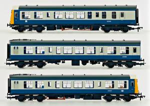 BACHMANN 00 GAUGE - 32-910 - CLASS 108 DMU 3 CAR BRITISH RAIL BR BLUE GREY