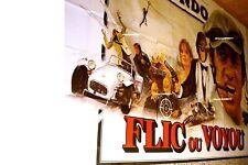 belmondo FLIC OU VOYOU magnifique affiche cinema 3x4m voiture cars caterham