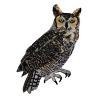 Great Horned Owl Applique Patch (Iron on)