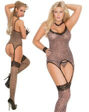 Elegant Moments 3pc Leopard Print Camisette Set Plus Size UK 16-20