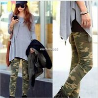 Women Lady Camo Camouflage Slim Stretch Leggings Skinny Trousers Pants Jeggings