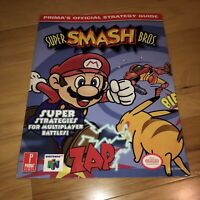 VGC Authentic Prima's Official Strategy Guide SUPER SMASH BROS. Nintendo 64 N64