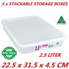 13pcs Handy Tubs 2.5l Clear Plastic Storage Container Lid Bins Made in Australia
