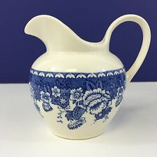 VINTAGE MASONS IRONSTONE BLUE & WHITE CREAMER 14 OZ FOR CRABTREE & EVELYN LONDON
