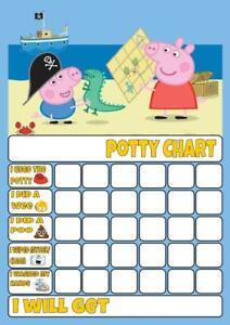 pig POTTY/TOILET TRAINING REWARD CHART free stars & pen