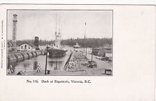 VICTORIA, British Columbia, Canada, 1890s; Ship entering Dry Dock at Esquimalt
