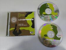 THE LOVEPARADE COMPILATION - 2 X CD 2001 SPANISH EDITION BLANCO Y NEGRO