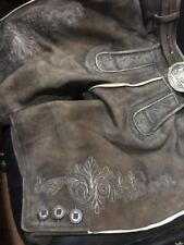 Hirschlederhose Brandneu antik braun mit Gürtel Trachtenhose Gr 48