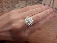 BRAND NEW 925 STAMPED SILVER ROSE RING IN A SIZEP WITH GIFT BOX