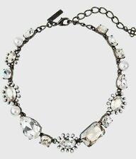 NEW w TAGS  Oscar de la Renta Bold Mix Jeweled Necklace Silver Pearl Crystals