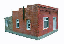 ONE STORY BRICK BUILDING HO Model Railroad Structure Unpainted Resin Kit FR502