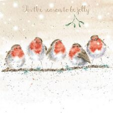 Wrendale Designs Christmas Card Robins Season to be jolly