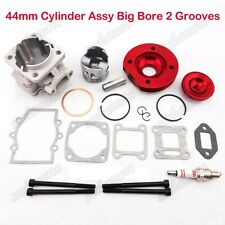 Red 44mm Big Bore Cylinder 2 Stroke 47cc 49cc Engine Mini Dirt Pocket Bike ATV