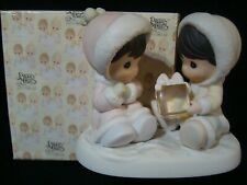 """Precious Moments-Two Eskimos/Ice Cube-I Only Have """"Ice"""" For You"""