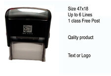 Personalised Rubber Stamp Self inking Name Business