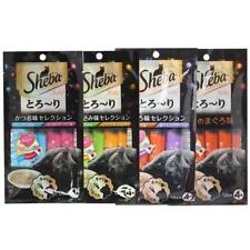 Sheba Melty Creamy Cat Treats Soft Snack for 1 Year and Above 12gx4