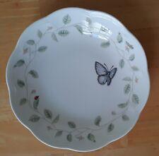 "2 Lenox Butterfly Meadow Soup Bowls, 8-3/4"" Eastern Tailed Blue"