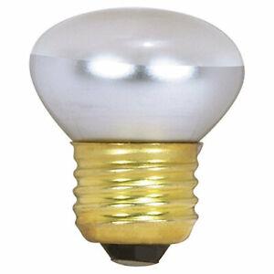 Satco R14 Incandescent Reflector, 40W E26 R14 Stubby, Clear Bulb