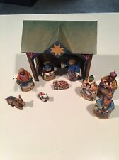 JIM SHORE 2004 MINI NATIVITY COMPLETE WITH 10 PIECES HEARTWOOD CREEK