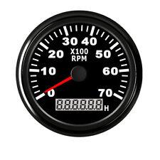 LCD Digital Tachometer 7000RPM + Hourmeter Motorcycle Diesel Engine Tacho 85mm