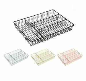 4 Compartment Cutlery Tray Holder Utensil Drainer Rack Kitchen Organiser Storage