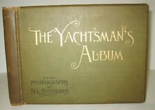 X RARE✅ YACHTSMANS ALBUM_STEAM & SAIL YACHTS_240 PICTURES_SHIP BOAT_ANTIQUE BOOK