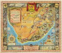 1950s South Africa Historic Vintage Style StoryWall Map - 24x28