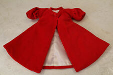Barbie Red Flare Vintage REPRODUCTION Doll Swing Coat fits orignal body Repro