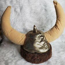 Viking Warrior Plush Hat Helmet Costume One Size Halloween