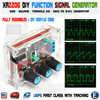 XR2206 Function Signal Generator Welded Assembled Sine Output 1HZ-1MHZ +DIY Case
