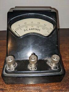 "Vintage W.M. Welch Scientific Company D.C. Amperes #3031P  ""Bakelite"""