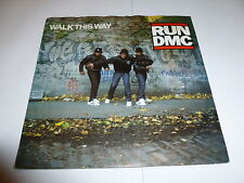 "RUN DMC - Walk This Way - 1986 UK injection moulded 2-track 7"" vinyl single"