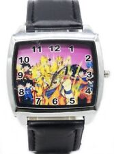 Dragon Ball Z Characters Black Leather Band Wrist Watch