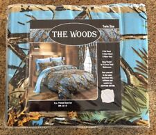 The Woods 3-Pc Light blue Camouflage Twin Sheet Set Camo New Super Soft