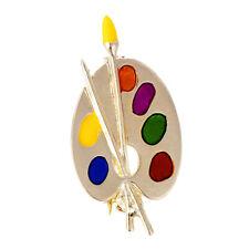 Fashion Brooch Colorful Enamel Artist Palette Pin Corsage Brooch Women Jewe EW