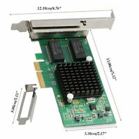 OEM Intel I350-T4 PCI-Express PCI-E Four RJ45 Gigabit Ports Server Adapter NIC