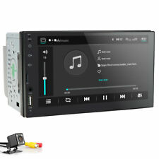 Double 2 DIN Car Stereo With Bluetooth Backup Camera 7 Inch TouchScreen GPS USB