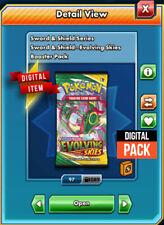 100 Evolving Skies Pokemon TCG Online Booster Pack CODE PTCGO Sent InGame EVS