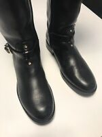 Tory Burch Eloise Black Leather Knee High Riding Boots Women's Size 5.5M
