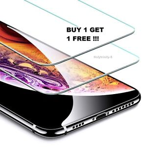 iPhone XS Max XR XS X Case Tempered Glass Cover Screen Protector Clear Guard
