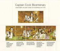 Captain Cook Bi centenary Miniature sheet Perforated muh