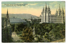 Pc Mormon Temple Grounds Looking Towards Sate Capitol