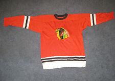 Vintage Hockey Durene 1960's Durene CHICAGO BLACKHAWKS Youth Jersey XL RARE
