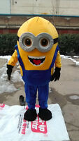 "Brand new Minion Mascot USA GRU DISPICABLE ME COSTUME USA 12 adult 67-70"""