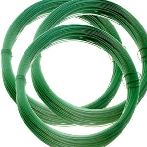 6 Rolls 15m x 1.5mm ROLL OF PVC COATED GREEN GARDEN WIRE