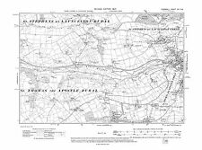 Old map of Launceston (west) 1907 - Cornwall, repro Corn-16-NE